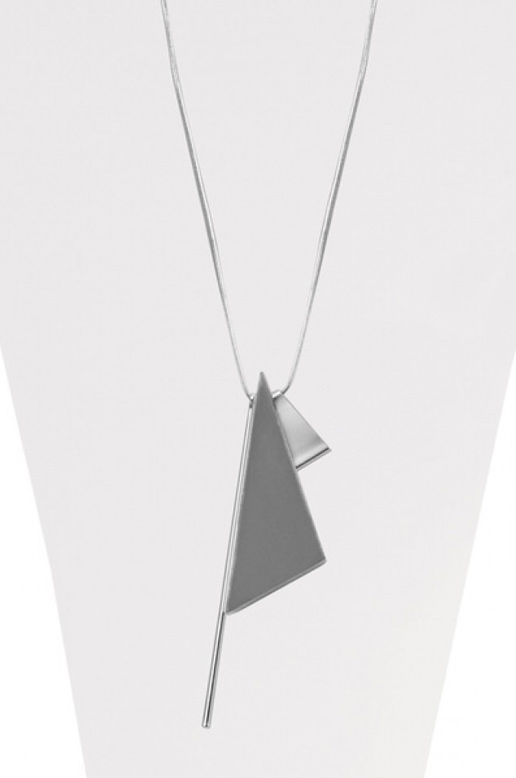 COLLIER LONG TRIANGLE EN BOIS
